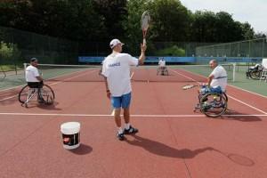 Entrainement tennis en fauteuil 2