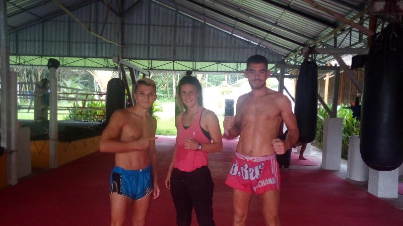 Raphaëlle, partie en Thaïlande dans un camp de Muay Thai